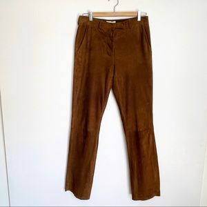 Helmut Lang 100% Suede Leather brown Trousers
